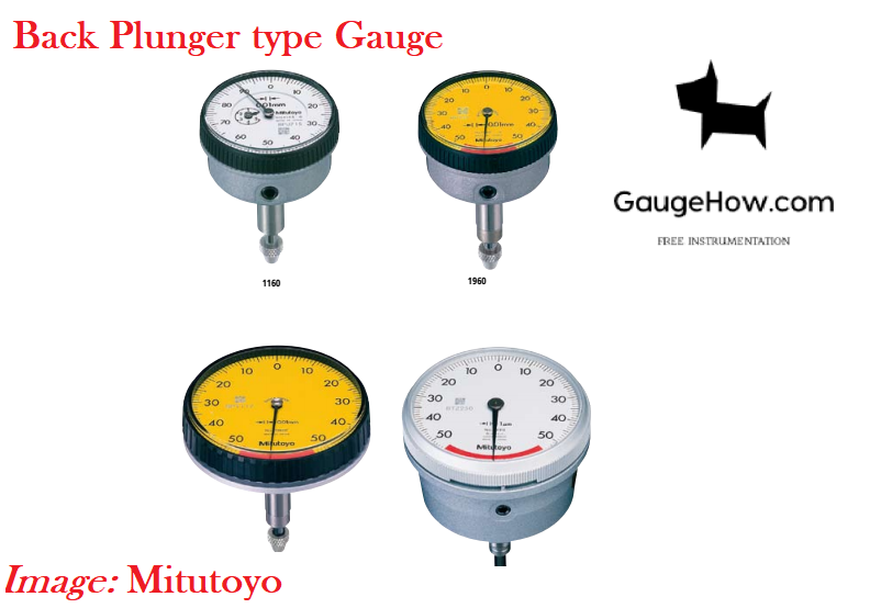 Back Plunger Dial gauge